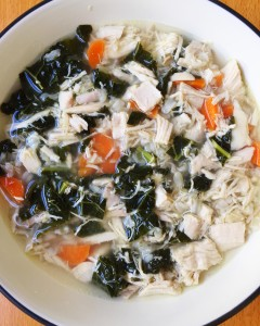 Chicken Soup with Kale & Carrots