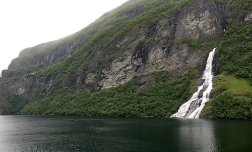 fjord waterfall