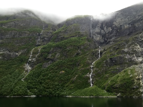 fjord waterfalls